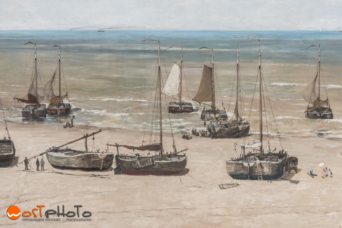 Part of the Mesdag Panorama in The Hague in the Netherlands