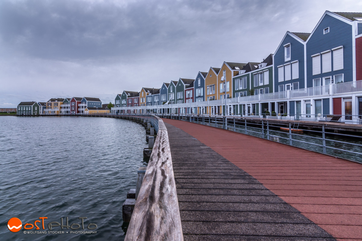 The famous Rainbow Houses of Houten in the Netherlands
