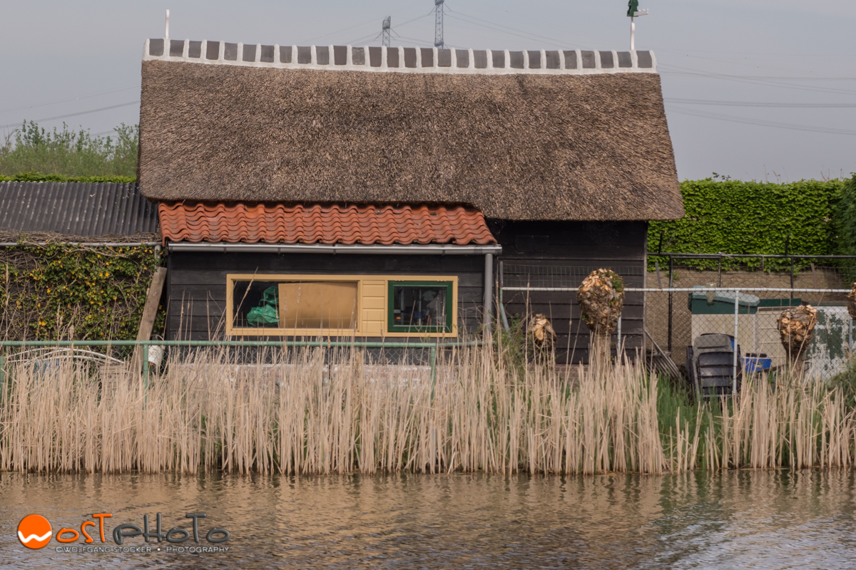 House at the windmills in Kinderdijk in the Netherlands