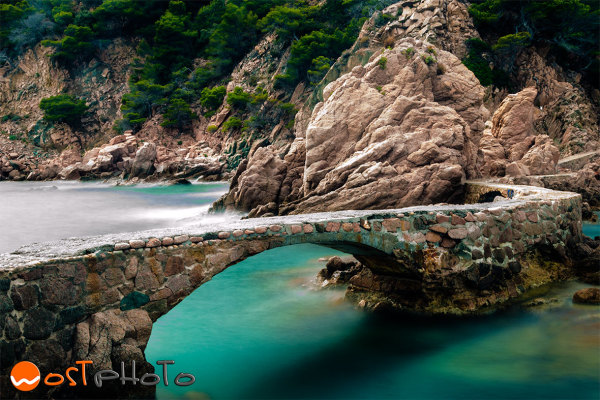 Stone bridges in Canyet de Mar