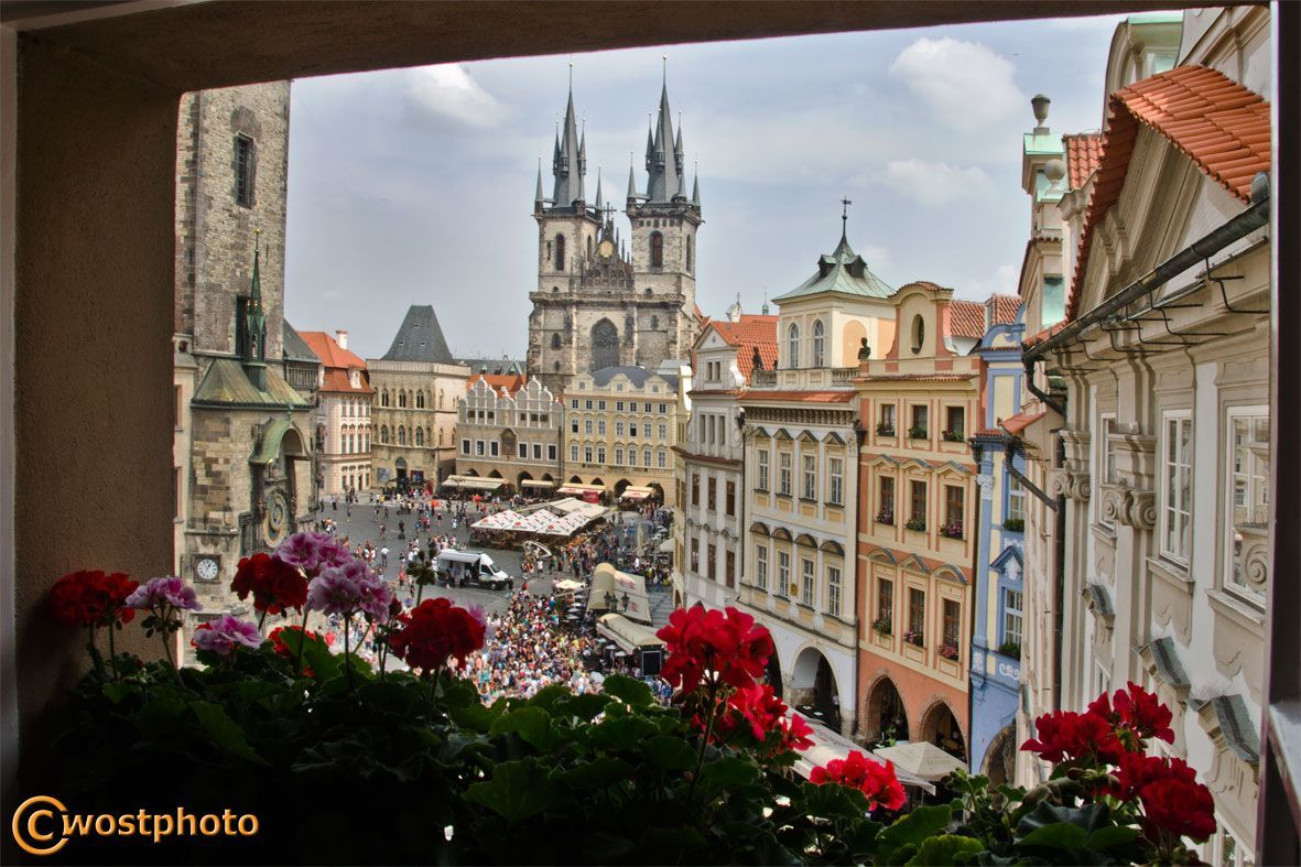 Beautiful view of downtown Prague in Czech Republic