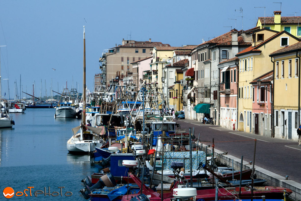 The little harbor of the fishing village Chioggia