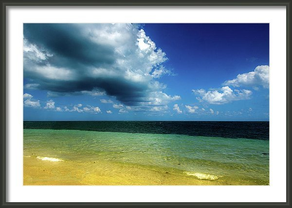Heavy clouds rolling in over the beach in Key Biscayne, Florida, USA