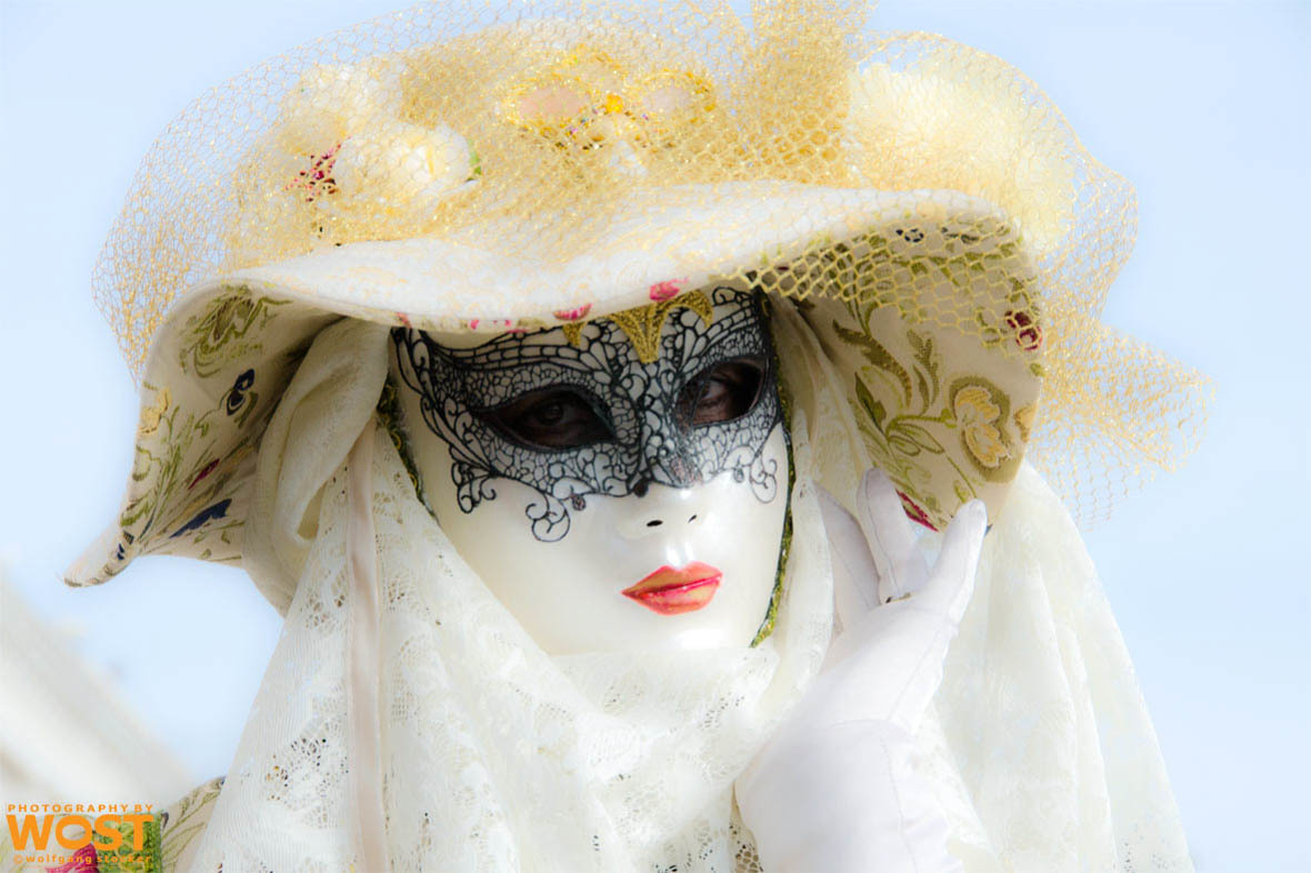 Gorgeous mask at the Carnival in Venice in 2013