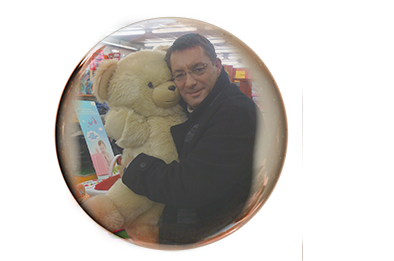 Wolfgang Stocker with Teddy