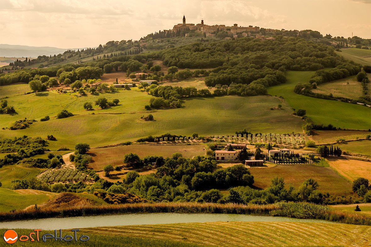Pienza in Tuscany/Italy on top of the hill