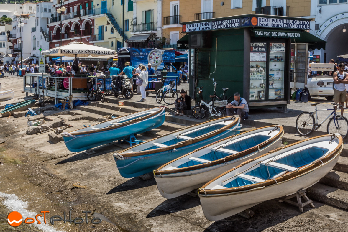 Fisher boats in Capri