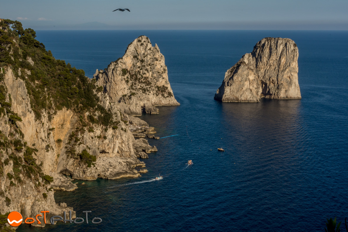 The Faraglioni di Capri in the bay of Naples