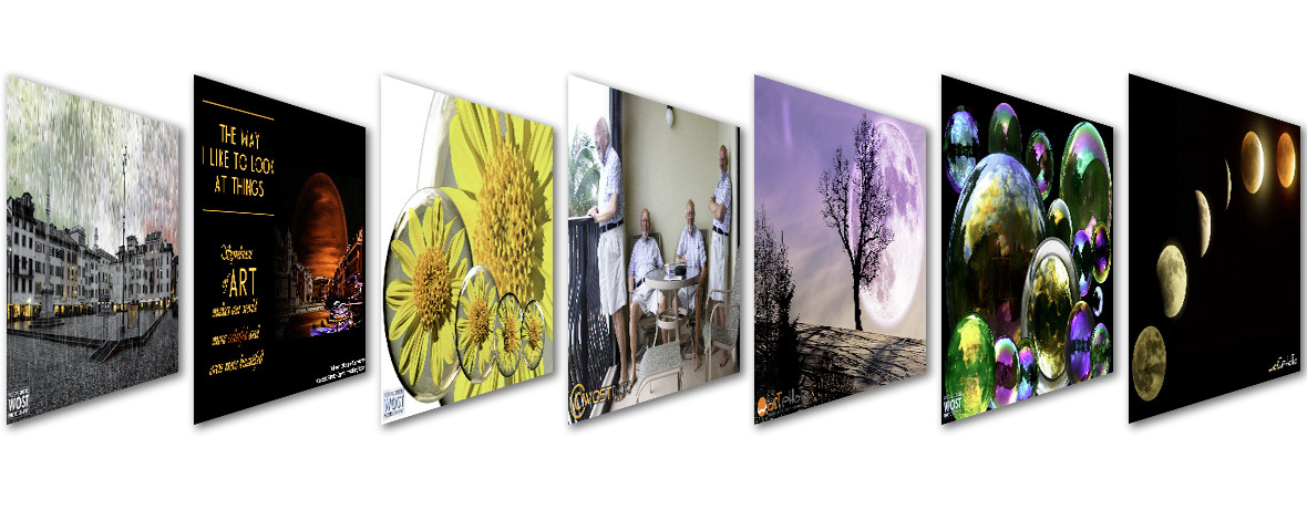 Variety of framed composites for wostphoto