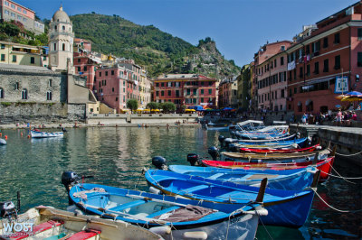 Vernazza, one of the five villages of Cinque Terre