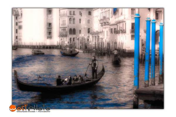 Gondolier on the Grand Canal in Venice/Italy