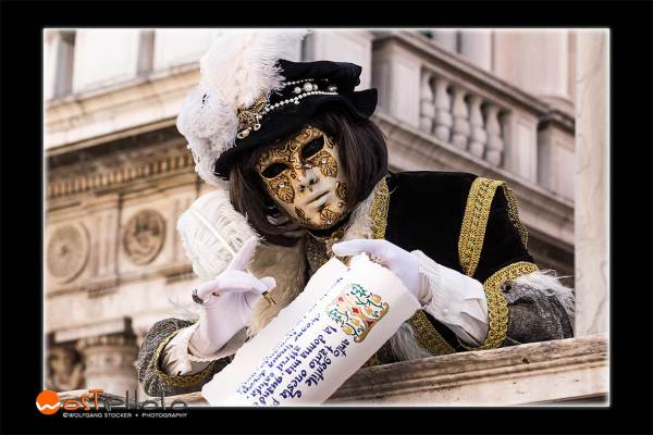 Poet mask during the Carnival 2019 in Venice/Italy